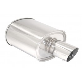 M-OE RS 3.5Inch Tip Universal Stainless Muffler 2.5inch [MR]